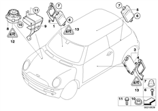 Parts For MINI R53/Coupe/Cooper S/ECE/Audio, Navigation, Electronic Systems/Ipod Connection Retrofit KitAlarm System_22