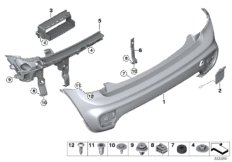 Parts For MINI R50/Coupe/Cooper/USA/Vehicle Electrical System/Ews Control Unit/tr Module/supportAerokit Rear Panel_13