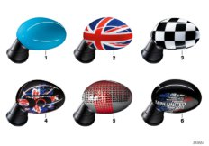 Parts For MINI R50/Coupe/Cooper/USA/Vehicle Electrical System/Ews Control Unit/tr Module/supportAussenspiegel Carbon Union Jack Checkered_1