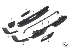 Parts For MINI R50/Coupe/Cooper/USA/Vehicle Electrical System/Ews Control Unit/tr Module/supportAerokit Trim Trim Back_1
