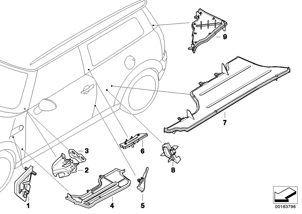 Box Section Cover Side Frame Left on Ford E 250 4 2 Liter Engine Diagram