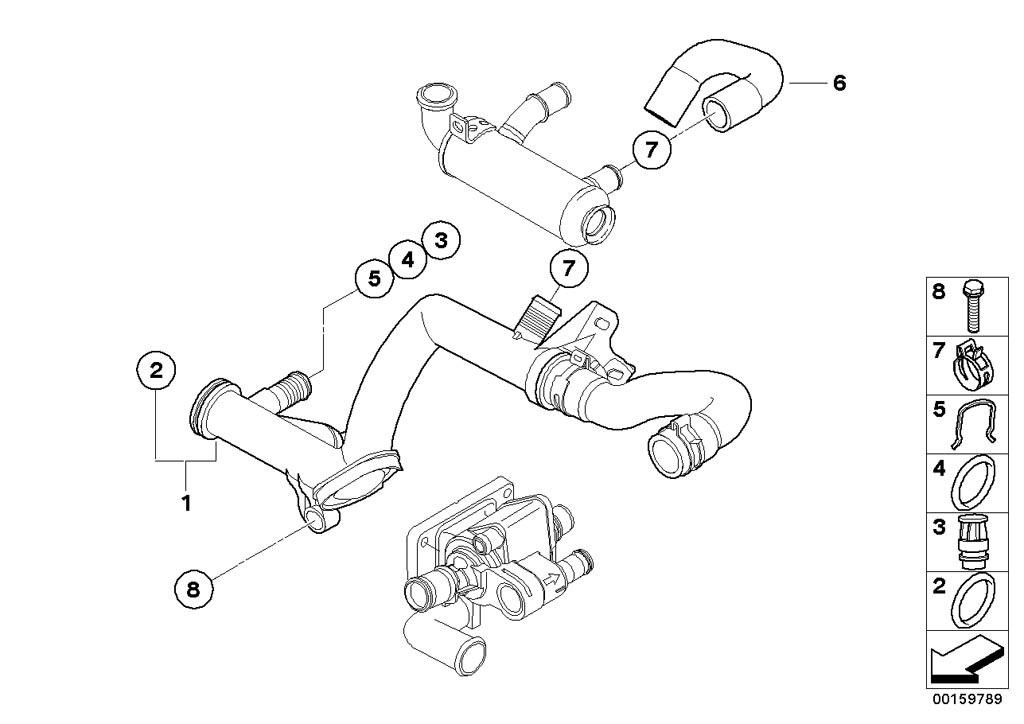mini r55  clubman  cooper d  ece  engine  intake manifold