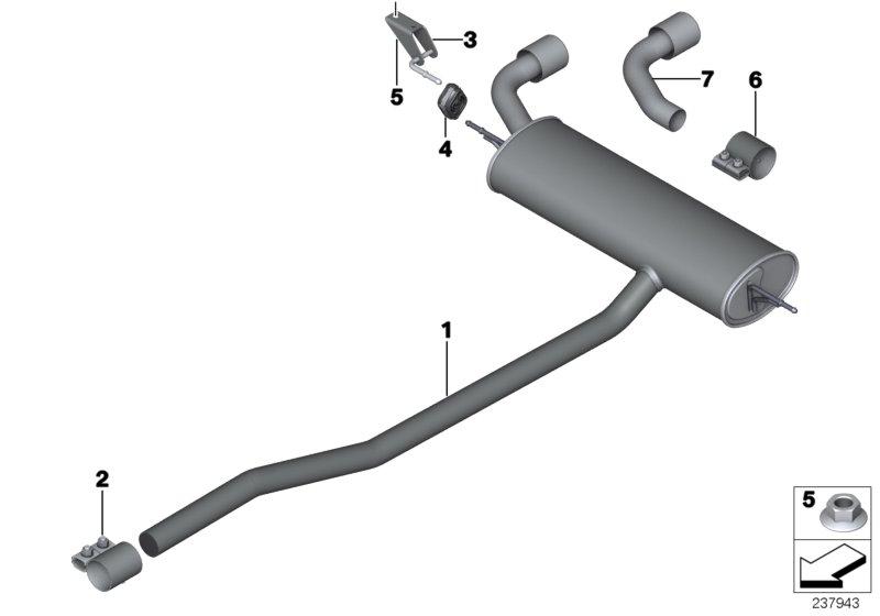 Mini R60  Countryman  One  Ece  Exhaust System