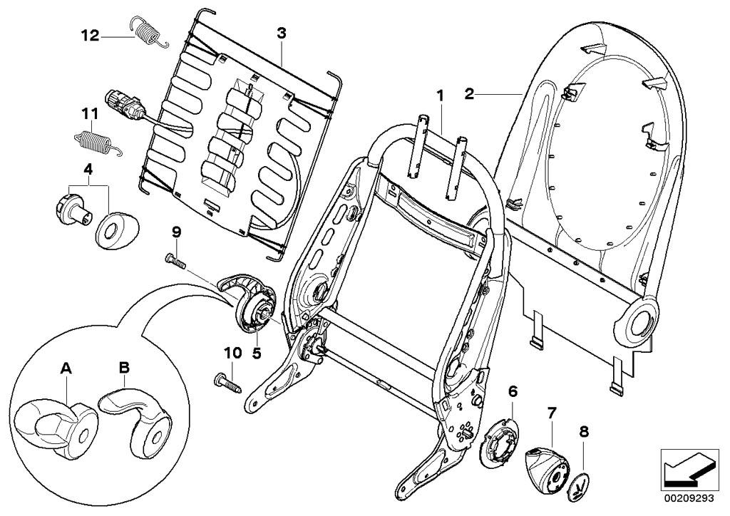 mini r50  coupe  cooper  ece  seats  rear seat parts