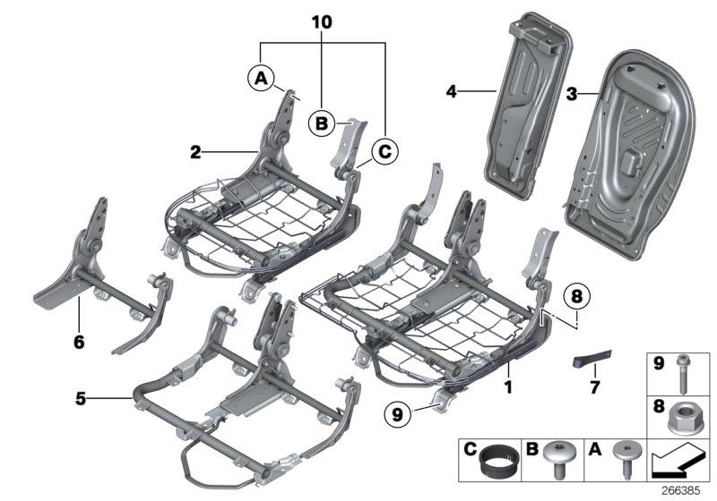 Parts For Mini R60  Countryman  Cooper S  Ece  Seats  Seat