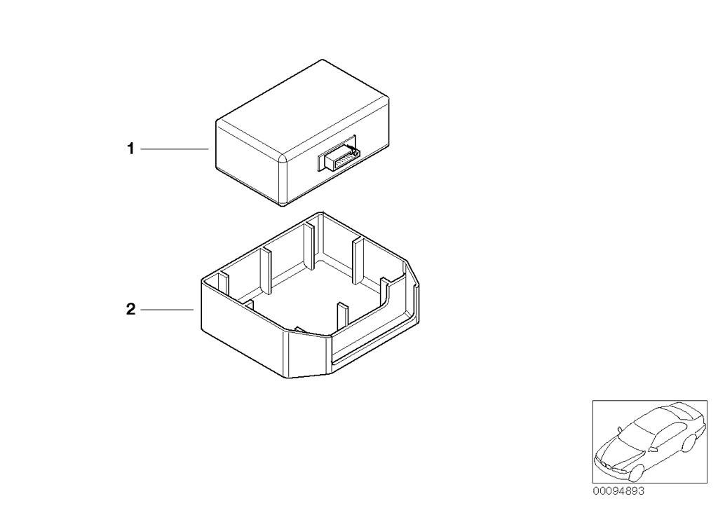 Parts For MINI R50/Coupe/Cooper/USA/Vehicle Electrical System/Ews Control Unit/tr Module/supportSingle Components F Rain Sensor