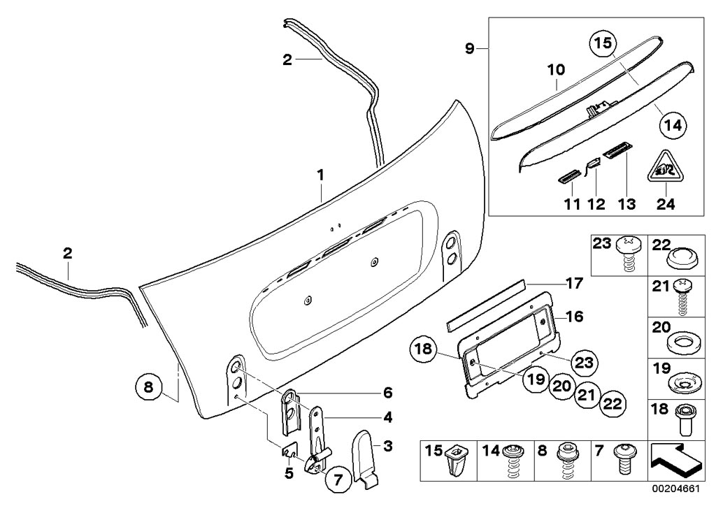 parts for mini r52 convertible cooper s ece bodywork engine mounting partssingle components