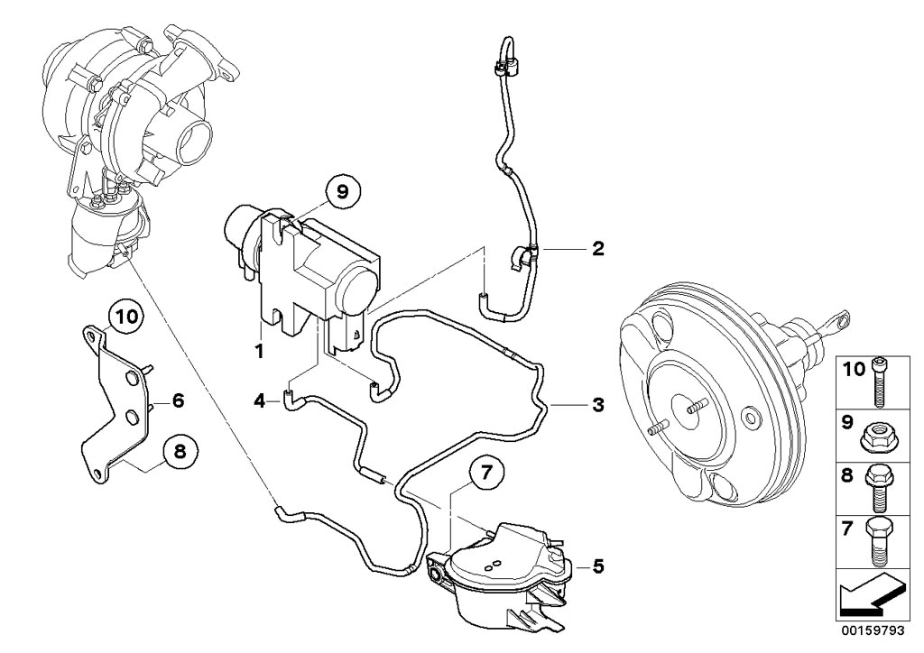 Mini R55  Clubman  Cooper D  Ece  Engine  Vacum Control Engine