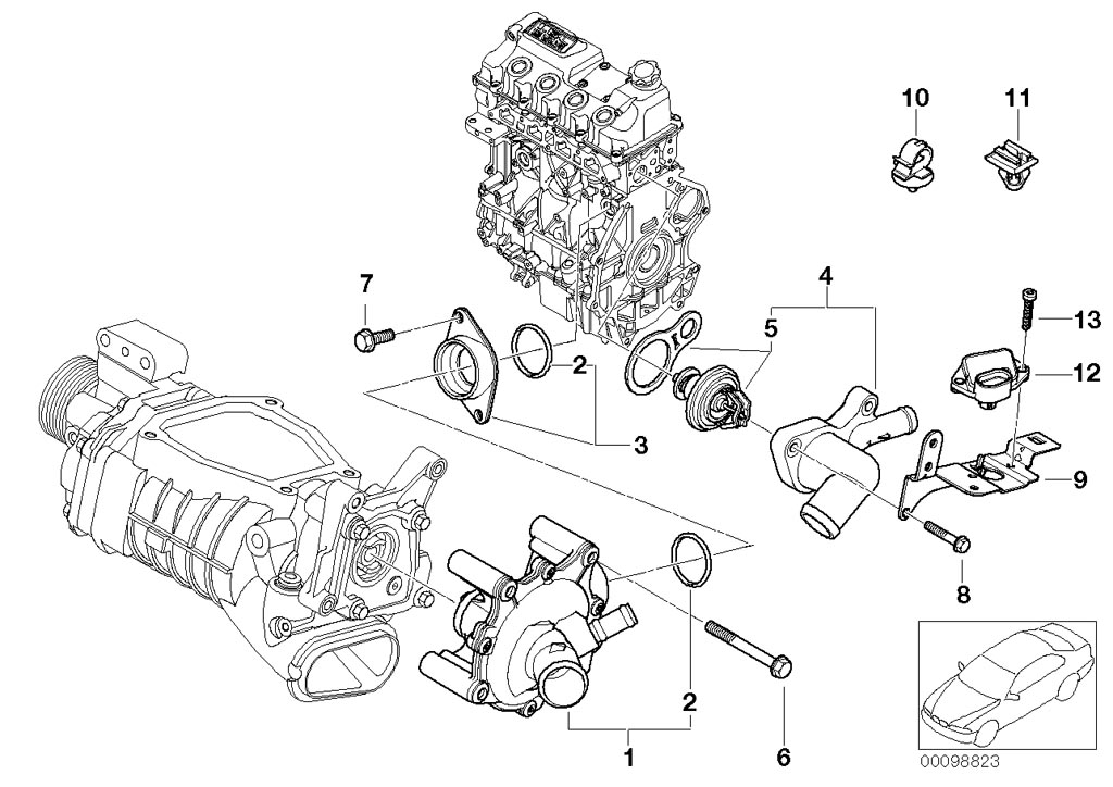 waterpump thermostat 00098823 mini cooper s wiring diagram mini cooper headlight wiring \u2022 wiring 2007 mini cooper wiring diagrams at reclaimingppi.co