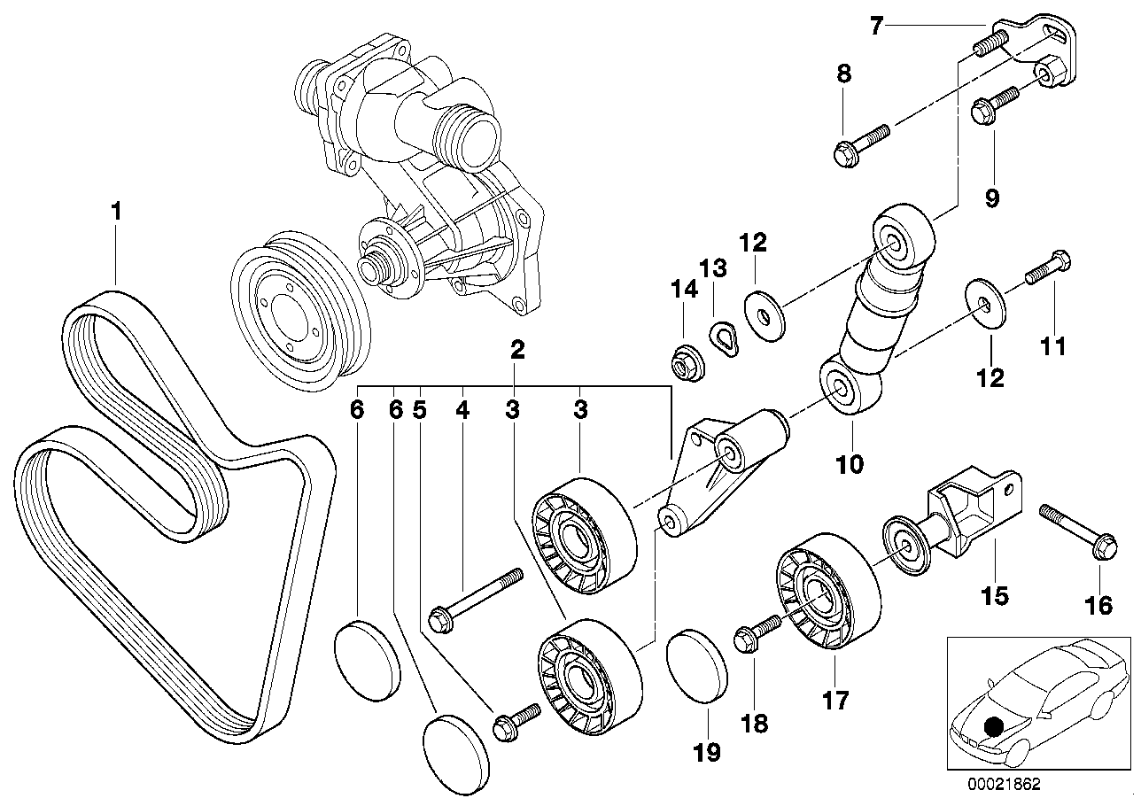2001 bmw 740il serpentine belt diagram html