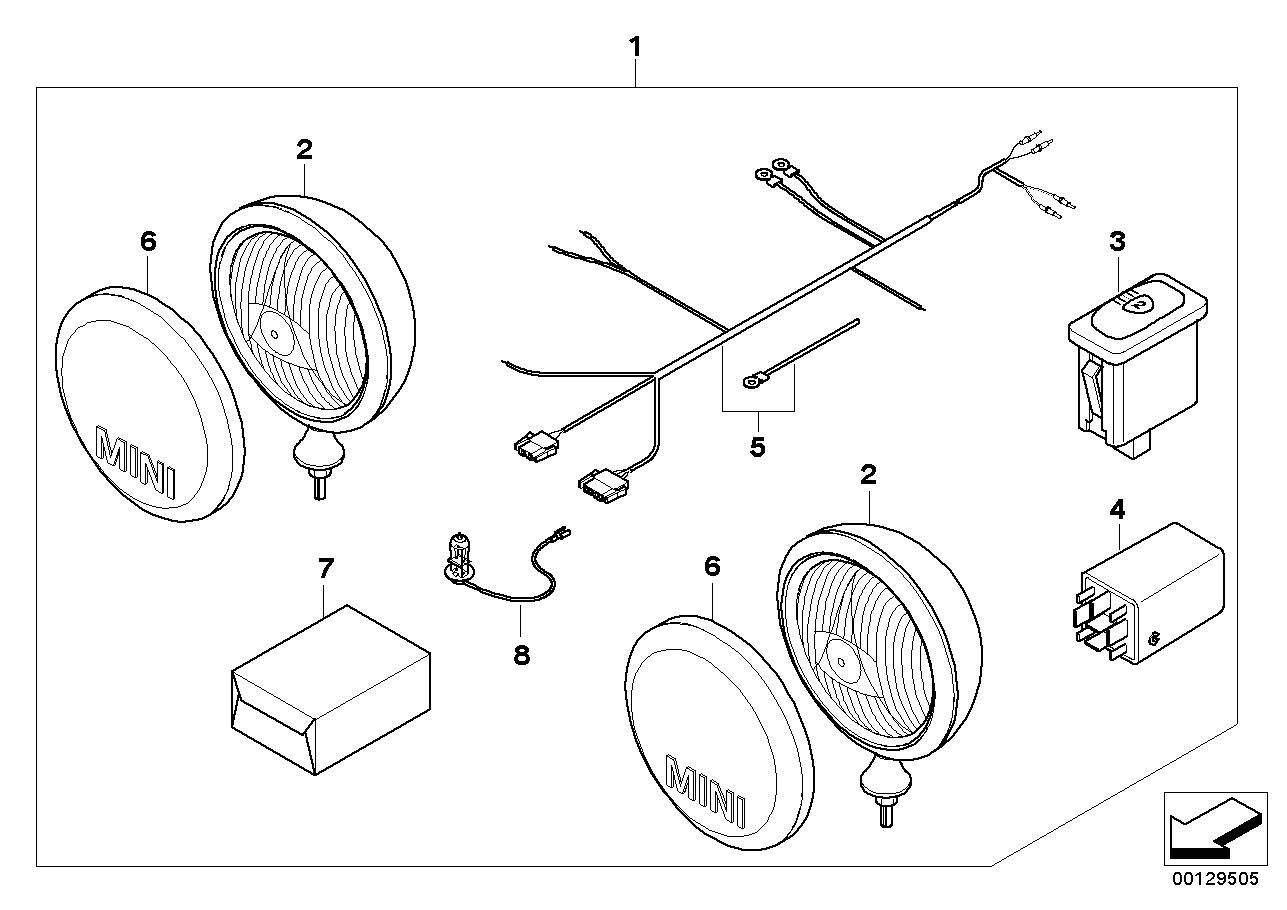 mini r52 cabriolet cooper - usa - eclairage